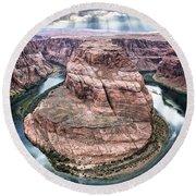 Grand Canyon Horseshoe Bend Round Beach Towel