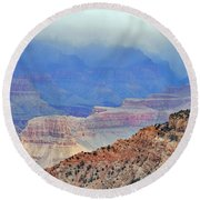 Grand Canyon Levels Round Beach Towel by Debby Pueschel