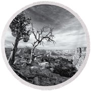 Grand Canyon - Monochrome Round Beach Towel