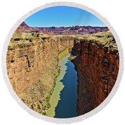 Grand Canyon National Park Colorado River Round Beach Towel