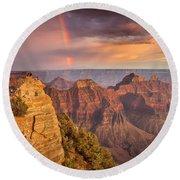 Grand Canyon North Rim Rainbow Round Beach Towel