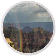 Grand Canyon Rainbow Round Beach Towel