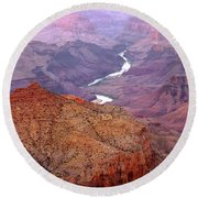 Grand Canyon River View Round Beach Towel