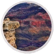 Grand Canyon Stacked Rock Round Beach Towel