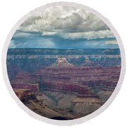 Grand Canyon Storms Round Beach Towel