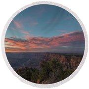 Grand Canyon Sunset 1943 Round Beach Towel by David Haskett