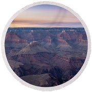 Grand Canyon Sunset Round Beach Towel