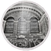 Grand Central Terminal Station Round Beach Towel