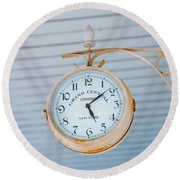 Grand Central Time 1 Round Beach Towel