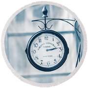 Grand Central Time 2 Round Beach Towel