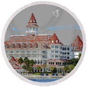 Grand Floridian In Summer Round Beach Towel