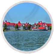 Grand Floridian Resort And Spa Mp Round Beach Towel