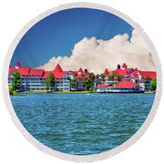 Grand Floridian Resort And Spa Round Beach Towel