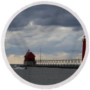 Grand Haven Wind Surfing Round Beach Towel