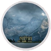 Grand Hotel Misurina Round Beach Towel