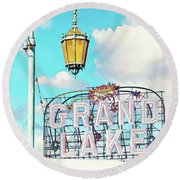 Grand Lake Merritt - Oakland, California Round Beach Towel
