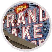 Grand Lake Theatre . Oakland California . 7d13495 Round Beach Towel