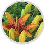 Grand Opening Lily Round Beach Towel