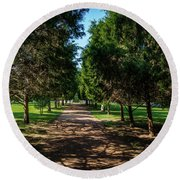 Grand Pathway - The Hermitage Round Beach Towel