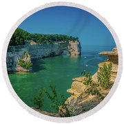Grand Portal Point Round Beach Towel