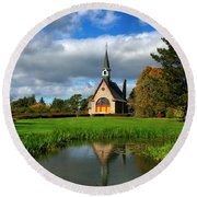 Grand-pre National Historic Site 04 Round Beach Towel by Ken Morris