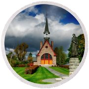 Grand-pre National Historic Site 06 Round Beach Towel