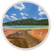 Grand Prismatic Round Beach Towel by Alpha Wanderlust