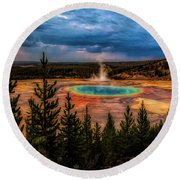 Grand Prismatic Pool - Yellowstone Round Beach Towel