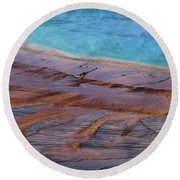 Grand Prismatic Spring Detail Round Beach Towel
