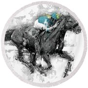 American Pharoah Grand Slam 15 Round Beach Towel