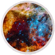 Grand Star-forming Region Round Beach Towel by Marco Oliveira