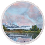 Grand Teton National Park, Wyoming Round Beach Towel