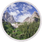 Grand Teton Peaks Round Beach Towel