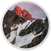 Grand Teton Sunset 2 Round Beach Towel
