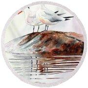 Grand Traverse Terns Round Beach Towel