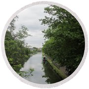 Grand Union Canal - Towards Hanger Lane Round Beach Towel