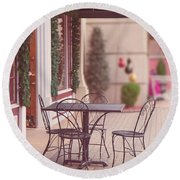 Round Beach Towel featuring the photograph Grand Village  by Ester Rogers