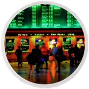 Round Beach Towel featuring the photograph Grand Central Station Nyc by Tom Jelen
