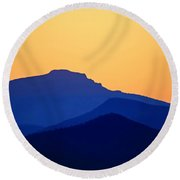 Grandfather Sunset Round Beach Towel by Dale R Carlson