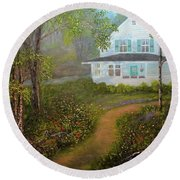 Grandma's House Round Beach Towel