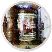 Grandma's Kitchen Tins Round Beach Towel