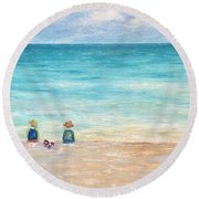 Grandmas View Round Beach Towel