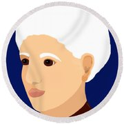 Grandmother Round Beach Towel by Marian Cates