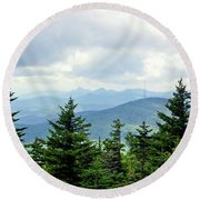 Grandmother Mountain Round Beach Towel by Meta Gatschenberger