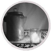 Grandmothers Vintage Coffee Pot Round Beach Towel