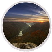 Grandview Sunrise Round Beach Towel