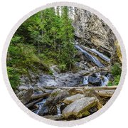 Granite Falls Round Beach Towel by Yeates Photography