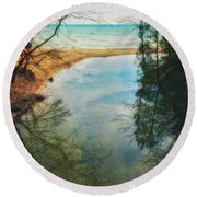 Grant Park - Lake Michigan Shoreline Round Beach Towel by Jennifer Rondinelli Reilly - Fine Art Photography