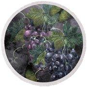 Grape Clusters Round Beach Towel