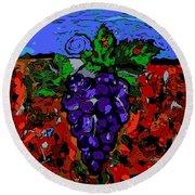Grape Jazz Digital Round Beach Towel